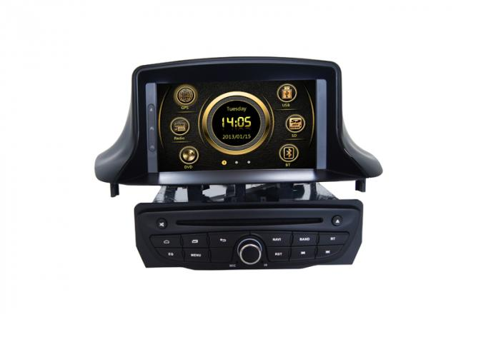 Car 2 din car dvd player with bluetooth 3g camera input for  megane / fluence 2014